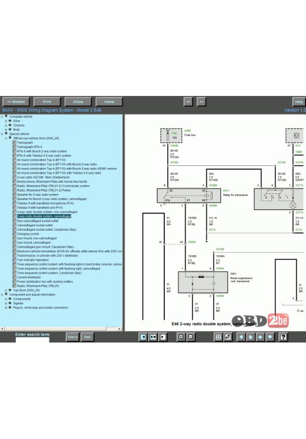 Bmw Wds Bmw Wiring Diagram System V12 3: BMW WDS v12.0 BMW / MINI Car Service 6 Repairrh:obd2be.com,Design
