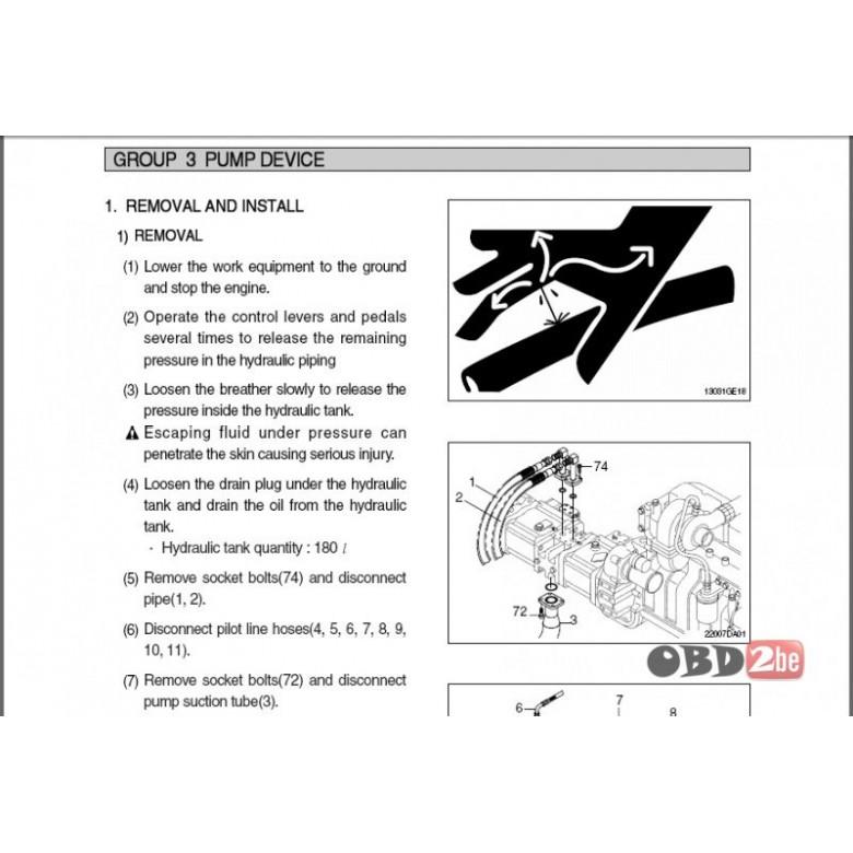Hyundai Crawler Excavators Service Manuals  Hyundai