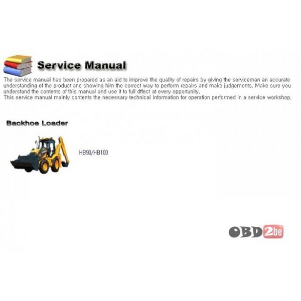 Hyundai Backhoe Loader Hb90 Hb100 Service Manual  Hyundai
