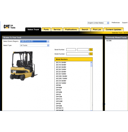 Caterpillar Lift Trucks Catalog