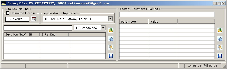 caterpillar et factory password key generator